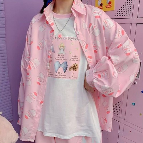 'Kawaii Strawberry milk' shirt